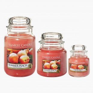 Summer Peach Bougies Jarres