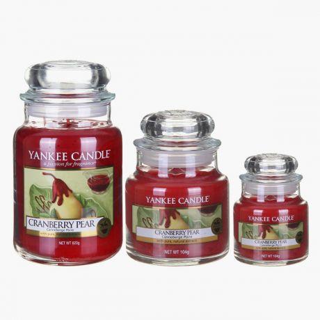 Cranberry Pear Bougies Jarres