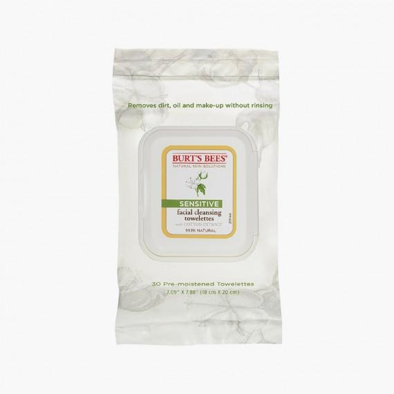 Burt's Bees Lingettes Nettoyantes Visage Cotton Extract