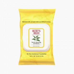 Burt's Bees Lingettes Nettoyantes Visage White Tea