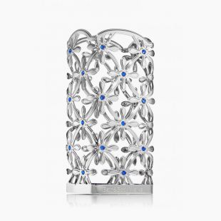 Flowers & Blue Gems Holder