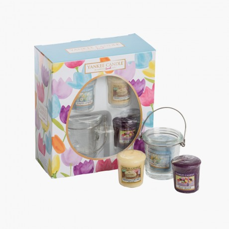 Coffret Yankee Candle Pâques 2017 3 votives + Support