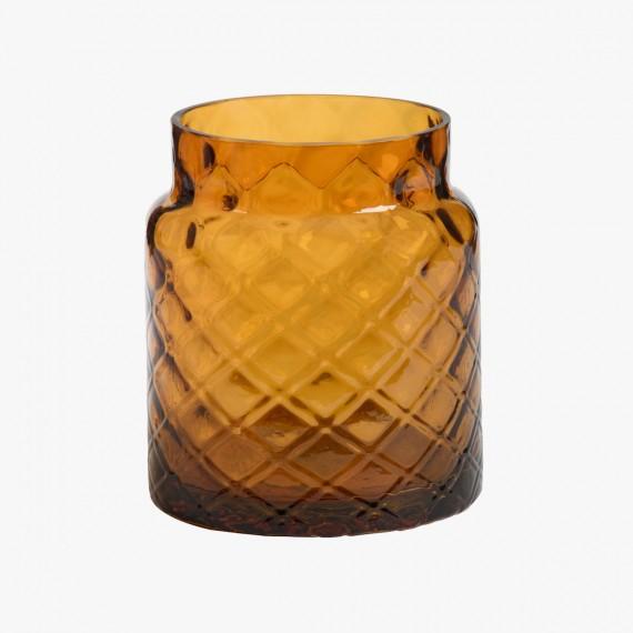 Porte Jarre en verre ambré Cigar Lounge