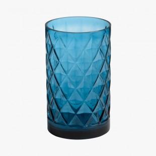 Porte Jarre en verre bleu Cigar Lounge