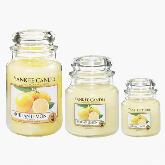 Sicilian lemon Bougies Jarres