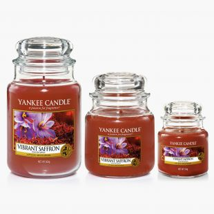 Yankee Candle Vibrant Saffron Bougies Jarres Collection Fall In Love