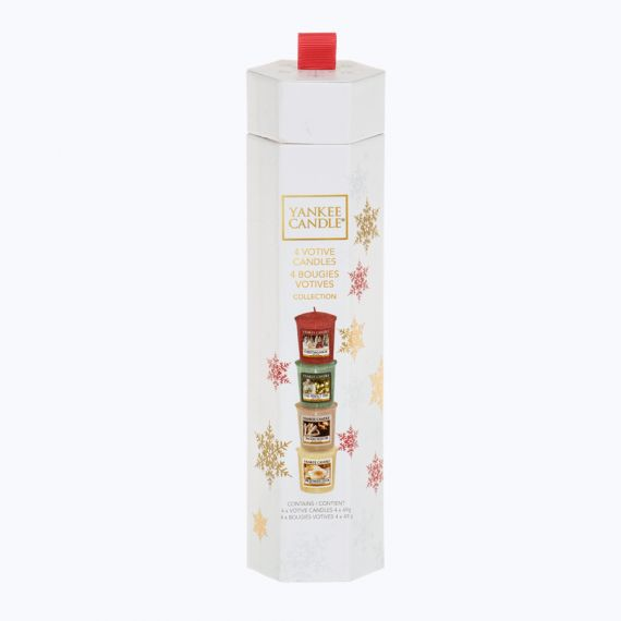 Coffret 4 votives de Noël