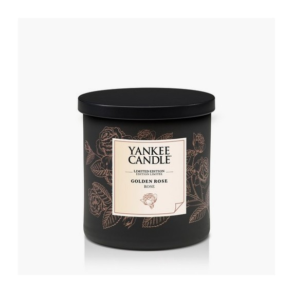 Bougie Golden Rose bougie colonne édition limitée Yankee Candle