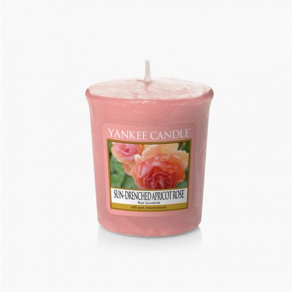 Sun Drenched Apricot Rose Votive