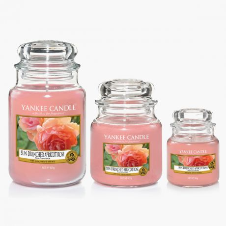 Sun-Drenched Apricot Rose Bougies Jarres