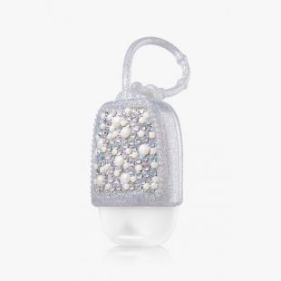 Bling Pearl Silver Pocketbac Holder
