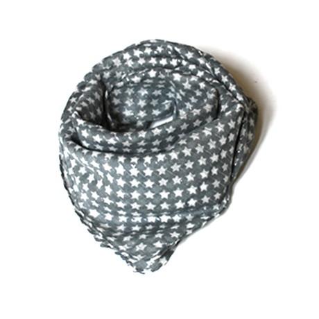 foulard-gris-etoile