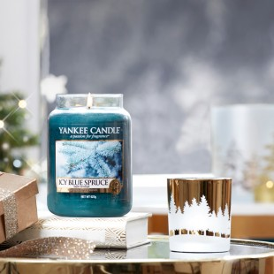 Photophore Winterscape doré collection Noel Yankee candle