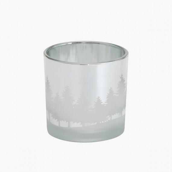 Photophore Winterscape argenté Noel Yankee Candle Holiday sparkle