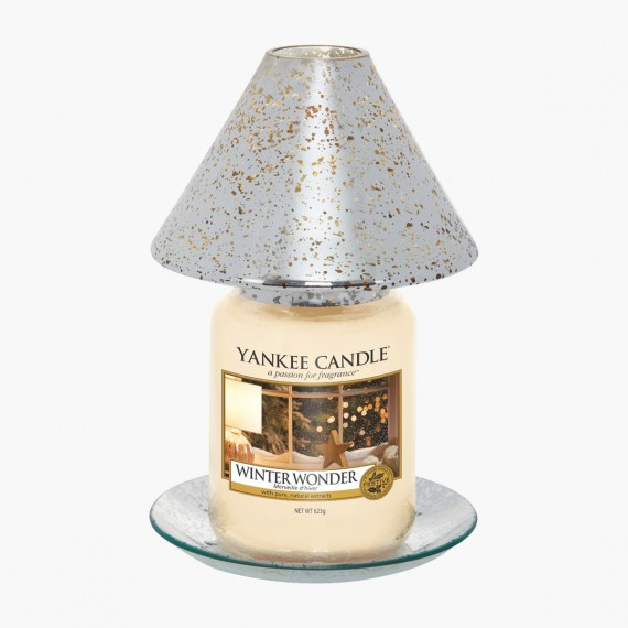 Grand abat-jour et plateau Shimmer Glow Noel Yankee Candle Holiday sparkle