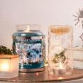 accessoires décoration argenté et doré bougies noel Yankee Candle