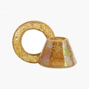 Petit abat-jour et plateau Gold Mosaique Noel Yankee Candle Holiday sparkle