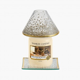 grand abat-jour et plateau Holiday Sparkle Noel Yankee Candle Holiday sparkle