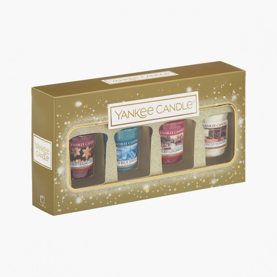 Coffret 4 Votives Sparkle Holiday Noel Yankee Candle Holiday sparkle