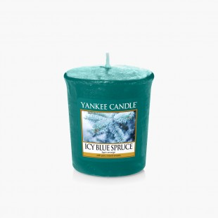 Icy blue spruce Votive Noel Yankee Candle sparkle holiday