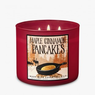 Bath & Body Works Maple Cinnamon Pancakes Bougie 3 Mèches
