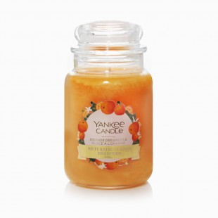 Orange Dreamsicle Grande Bougie Jarre
