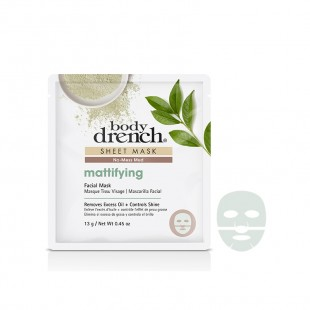 Body Drench Masque Tissu No-Mess Mud Mattiffying