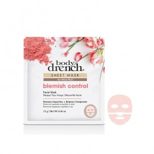 Body Drench Masque Tissu No-Mess Mud Blemish Control