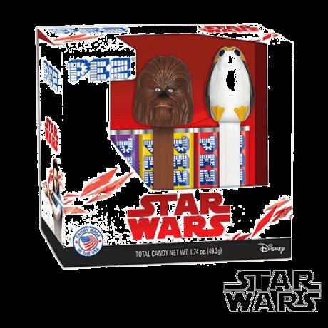 Coffret PEZ Star Wars Episode 8 - Chewbacca & Porg