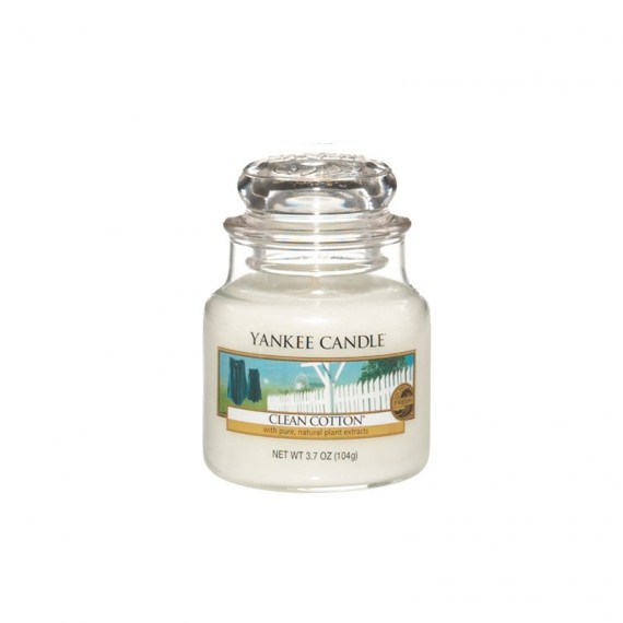 Bougie Petite Jarre Clean Cotton Yankee Candle