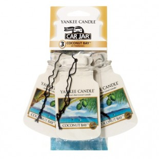 Yankee Candle Car Jar Coconut Bay x3
