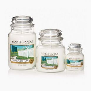 Bougies Jarres Clean Cotton Yankee Candle