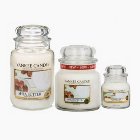 Bougies Jarres Shea Butter Yankee Candle