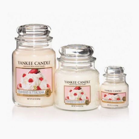 Bougies Jarres Strawberry ButterCream Yankee Candle