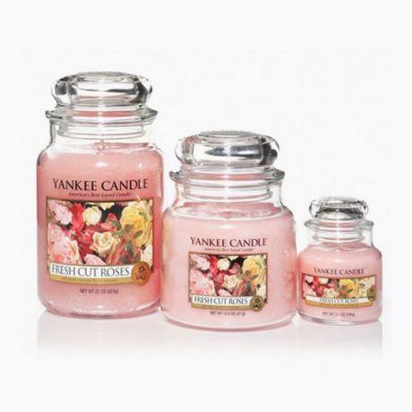 Yankee Candle Bougies Jarres Fresh Cut Roses