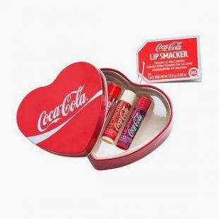 Heart Tin Box Coca Cola x3