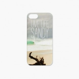 Coque iPhone 5 Pura Vida Live Life Sandy