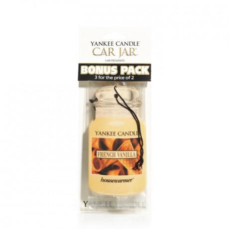 French Vanilla Car Jar Classic Bonus Pack Yankee Candle
