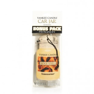 French Vanilla Car Jar Classic Bonus Pack Yankee Candle