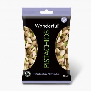 Wonderful Pistachios Pistaches Poivre & Sel