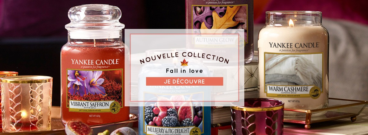 nouvelle collection fall in love bougie yankee candle automne