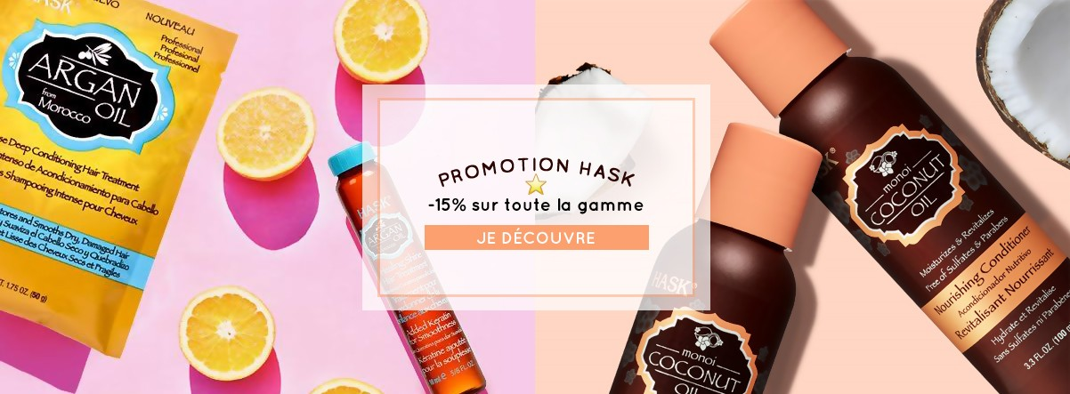 Promotions soldes shampoing apres shampoing masque huile Hask