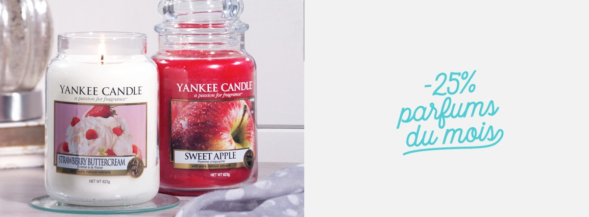 Parfums du mois Yankee Candle promotion