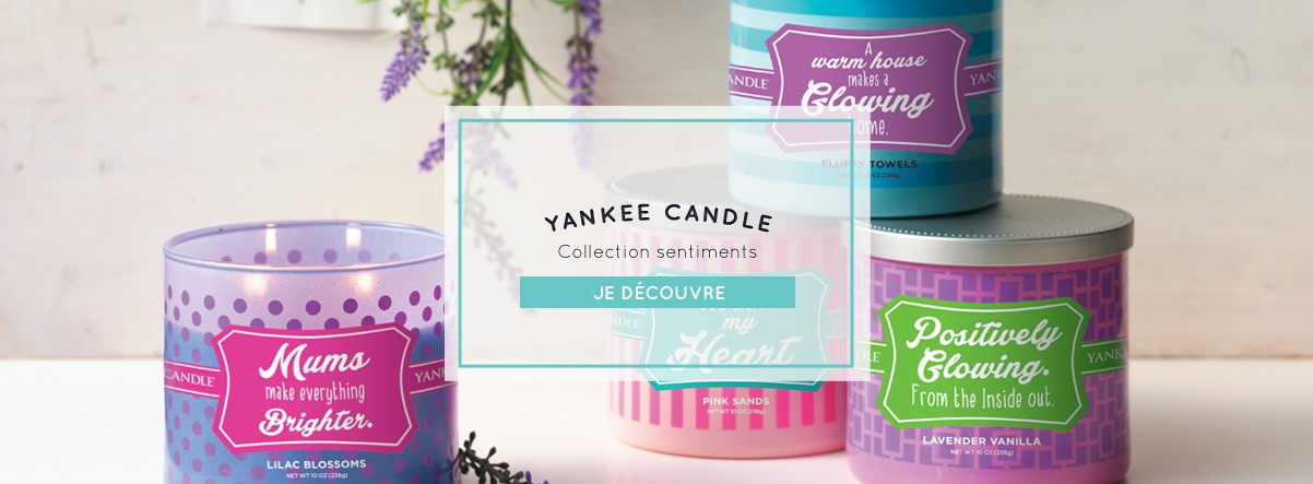 Bougie Yankee Candle collection Sentiments