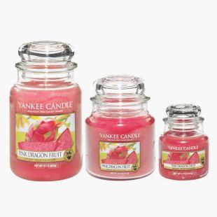 Pink Dragon Fruit Bougies Jarres