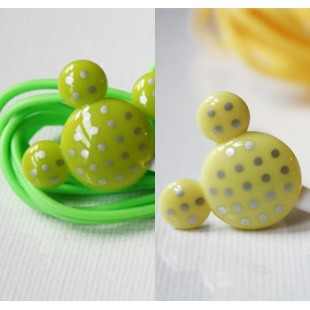 ecouteurs-mickey-jaune-pois-argent