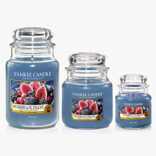Yankee Candle Mulberry & Fig Delight Bougies Jarres Collection Fall In Love