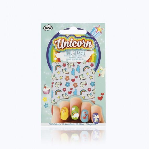 Planche de Stickers pour ongles Licorne