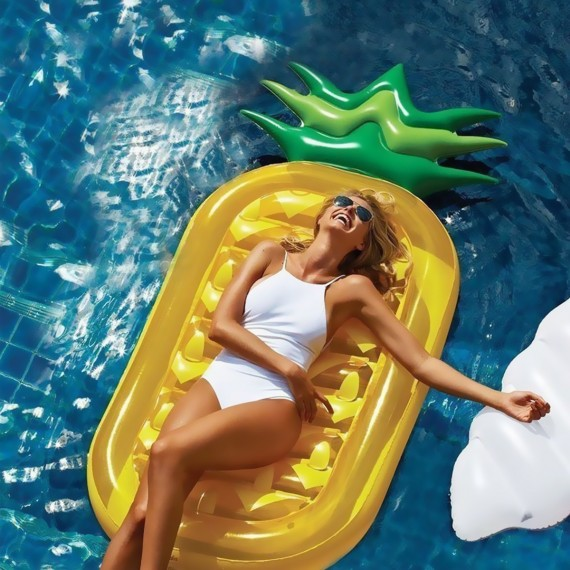 Pineapple Pool Party Matelas Gonflable