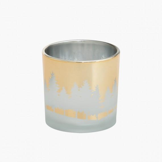 Photophore Winterscape doré collection Noel Yankee candle